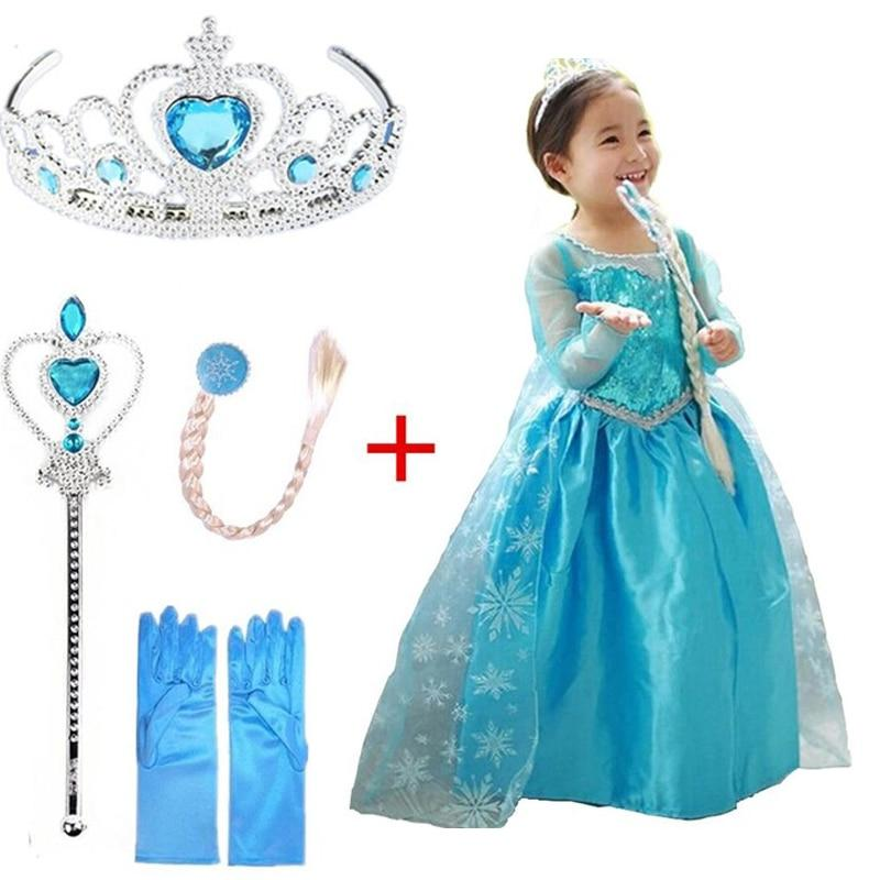 New Snow Princess Snowflake Anna Hair <font><b>Accessory</b></font> <font><b>Kids</b></font> for <font><b>Girls</b></font> Clothing