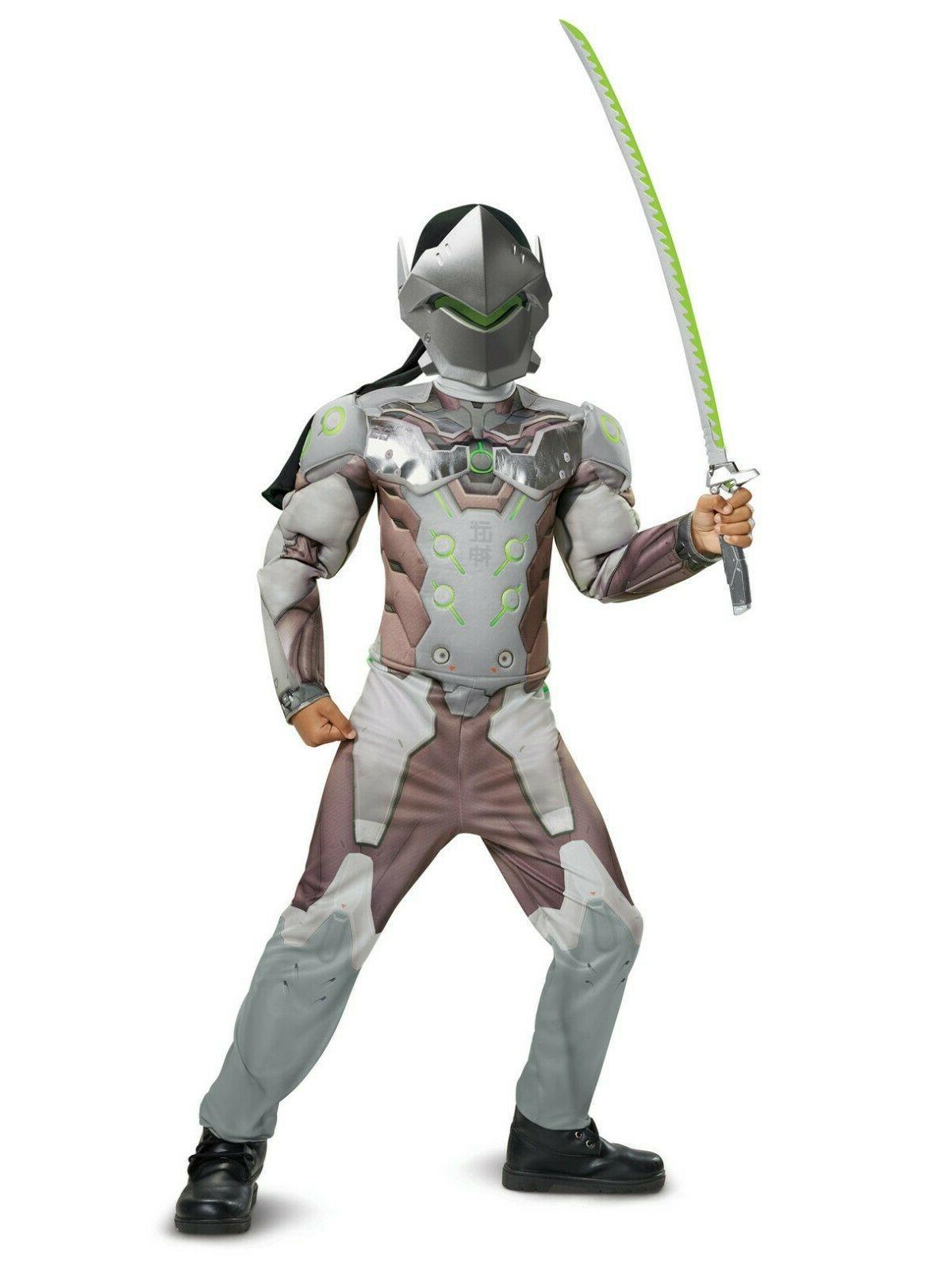 new genji overwatch kids muscle costume by