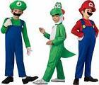 New Mario Luigi Yoshi Costume Kids Super Mario Bros/Brothers