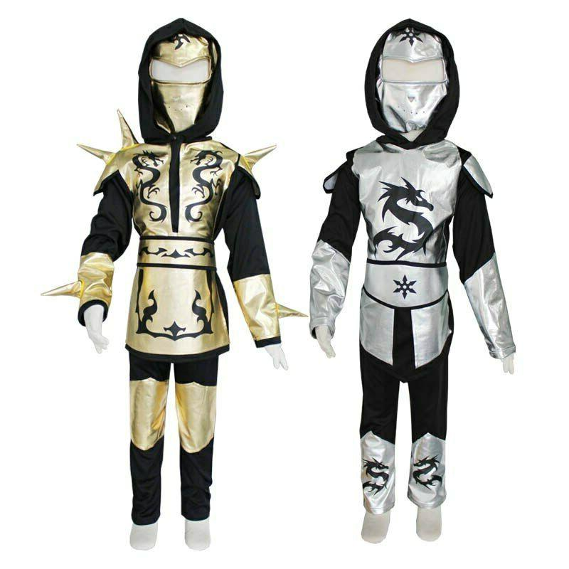 Ninja Ninjago Boys Sliver Dragon Hooded Pants