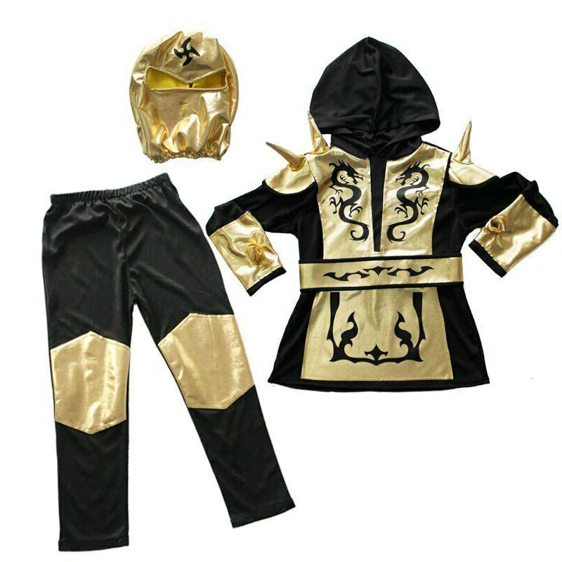 Ninja Costume Boys Gold