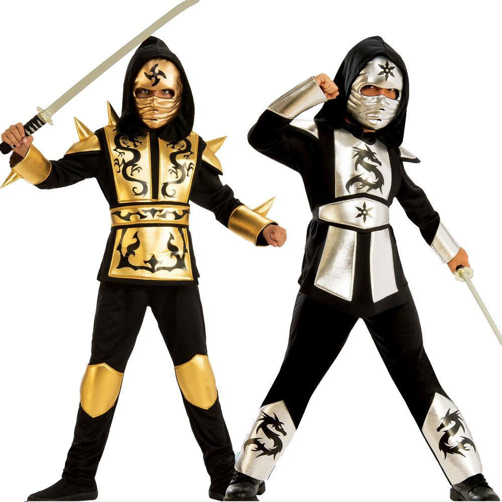 ninja ninjago costume kids boys gold sliver