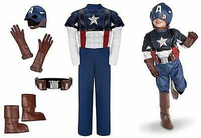 Disney NWT Captain America Costume Kids Avengers medium med