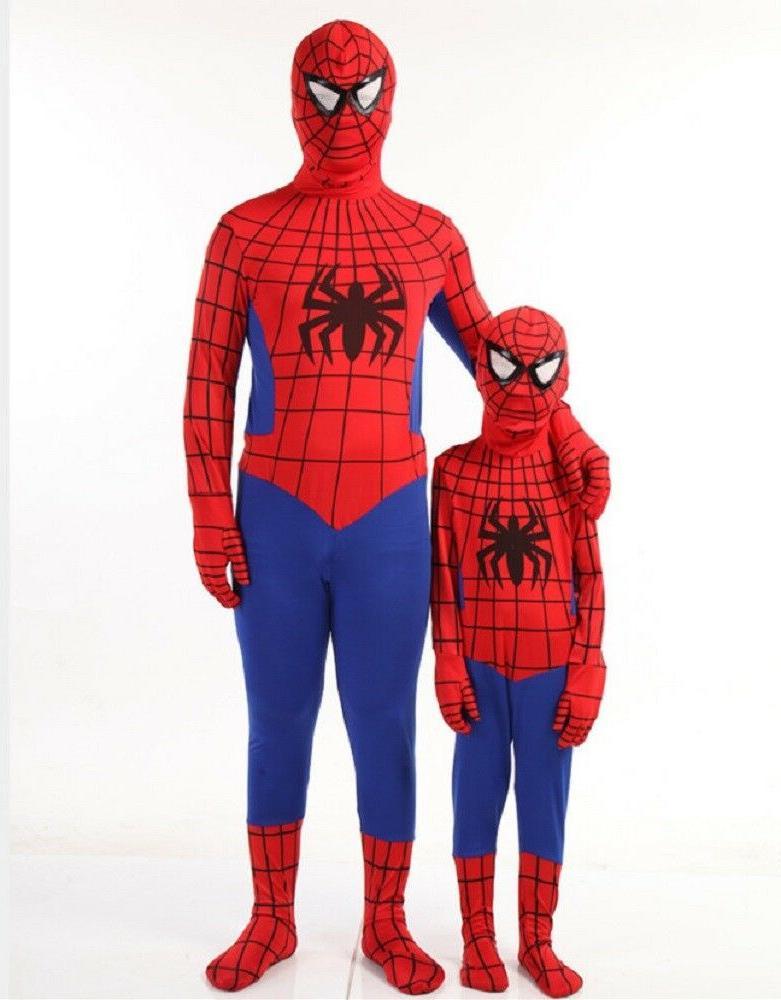 Party Teen Spiderman Costume Kids Superhero Bodysuit