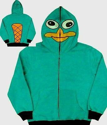 Disney Phineas & Ferb 14-16 XL Sweatshirt Hoodie New kids Ag
