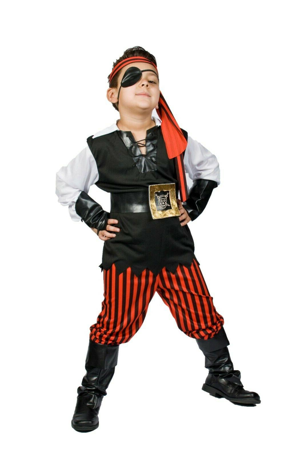 Pirate Costume boys buccaneer Size 5,6,7,8 Ahoy Matey!