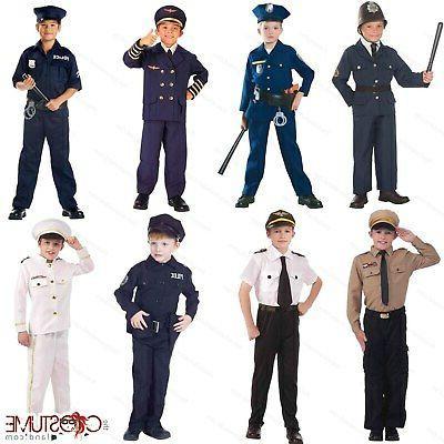 police boys costume kids navy dress up