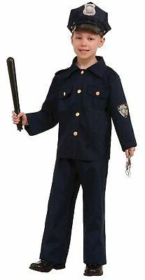 Police Officer Boy Child Cop Law Enforcement Halloween Costu
