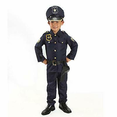 Officer Costume Set Kids on Shoul