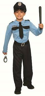 Police Officer Hero Child Cop Uniform Costume Small 4-6