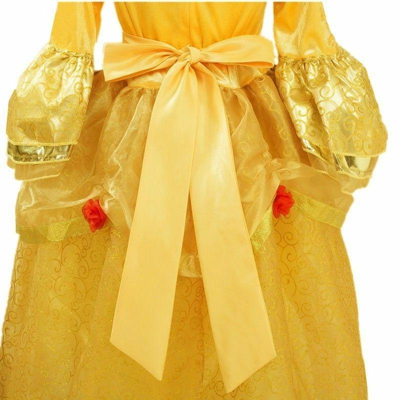 Princess Yellow Girls Costume Dress with Cosplay