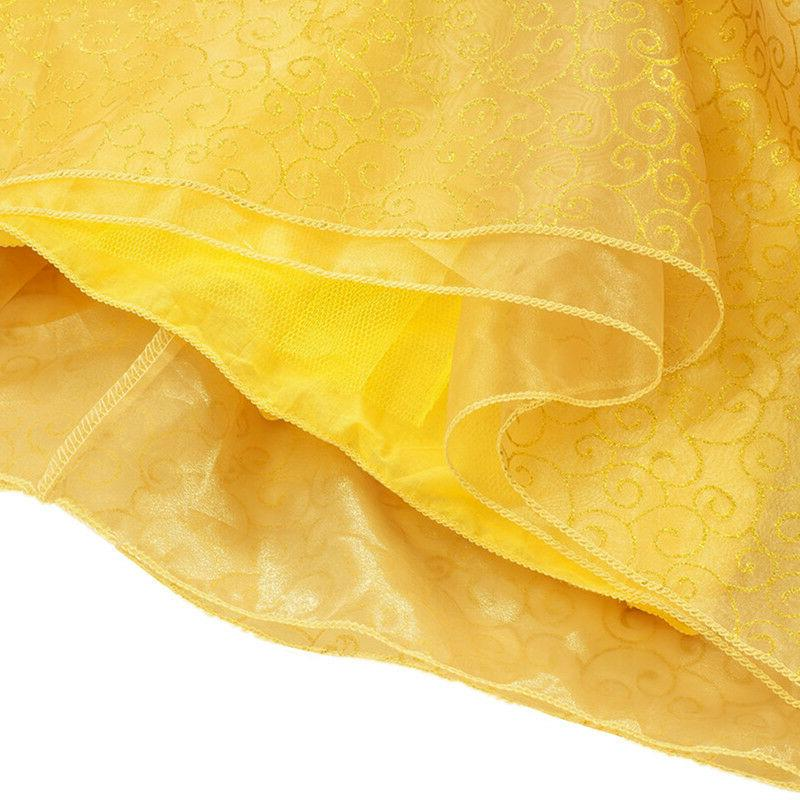 Princess Belle Girls Costume Dress Cosplay Accessories 3-10