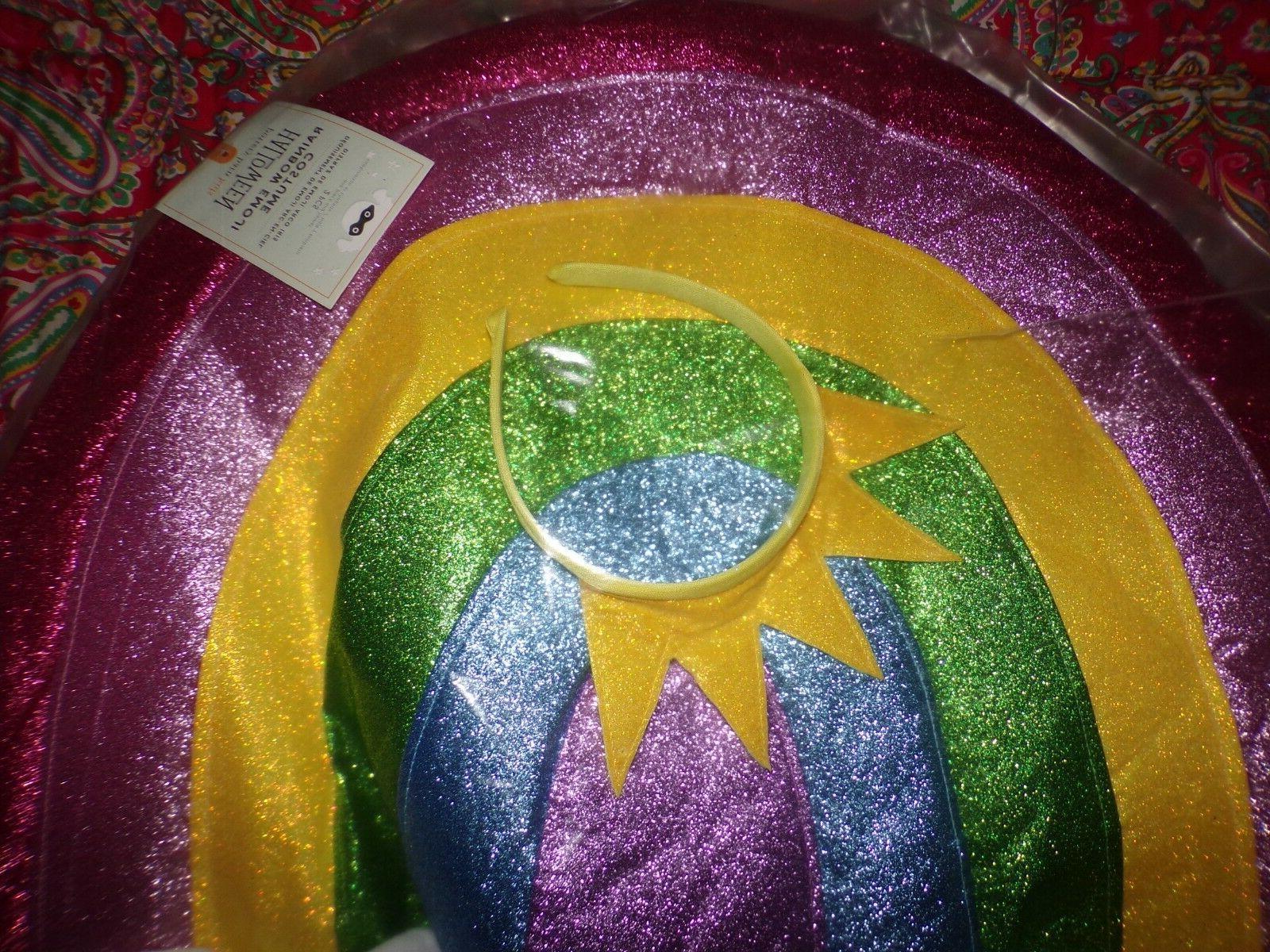 Pottery Barn Kids Rainbow Emoji Costume 2 Piece