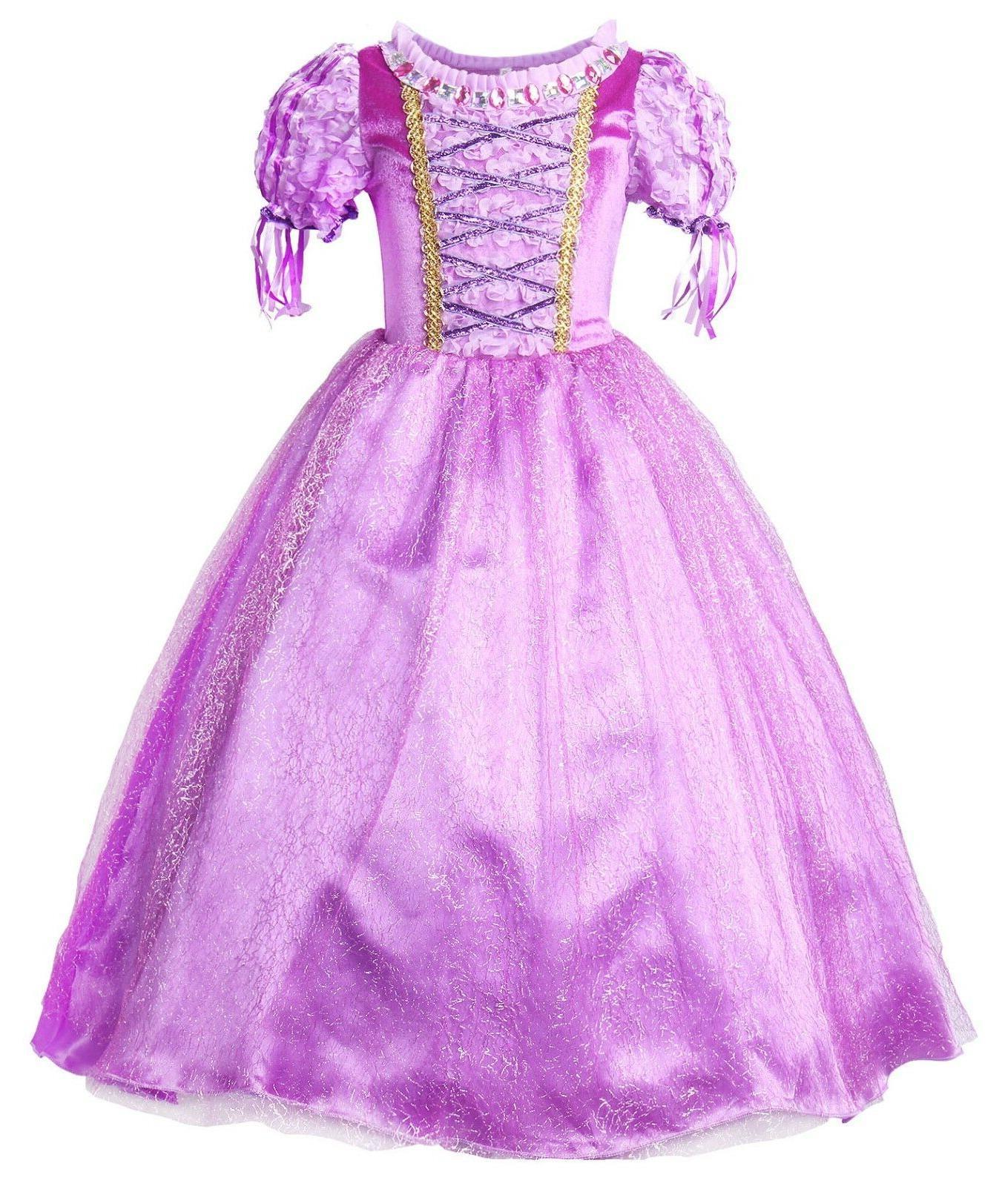 rapunzel dress girls princess costume party dress