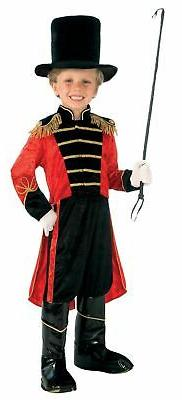 Ringmaster Lion Tamer Circus Child Costume Jacket with Tails