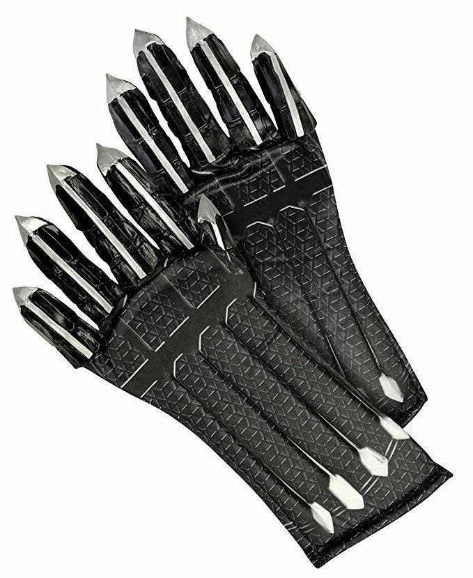rubies endgame deluxe black panther child gloves