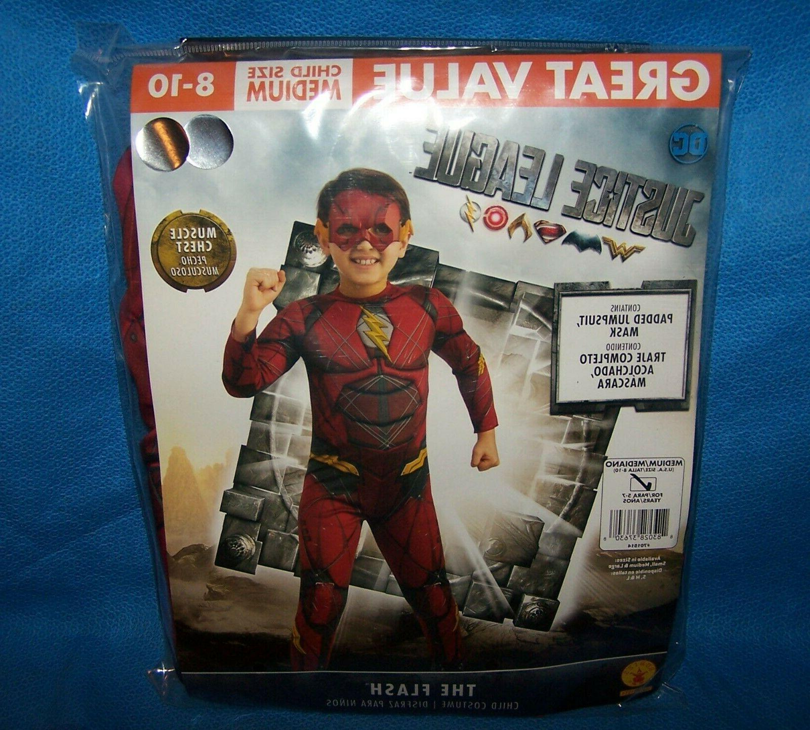 Size M 8/10 Dc Justice League The Flash Child Costume Muscle