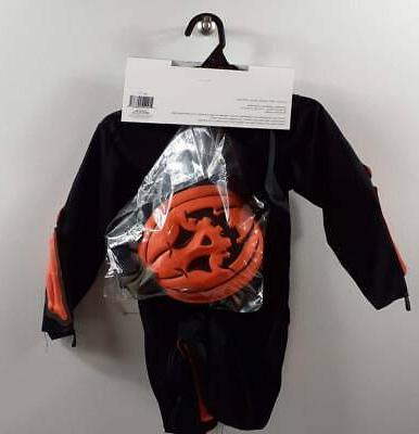 Black Orange Skeleton 3T-4T Kids New