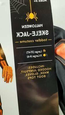 Skele-Jack Black Orange 3T-4T Kids