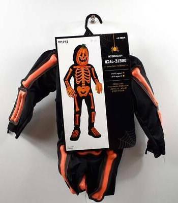 skele jack toddler halloween costume black orange
