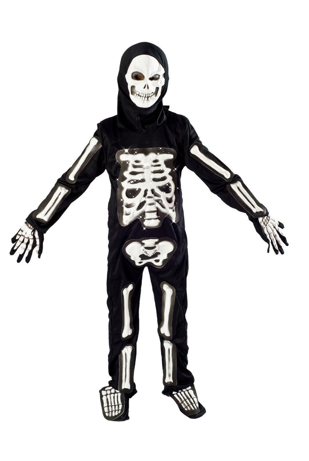 Skeleton Halloween Costume Light Size 6-8