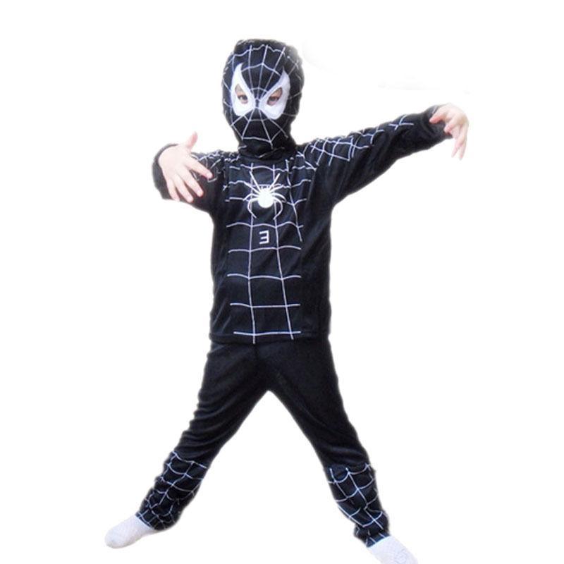 Spideman Costume Superhero Cosplay Fancy Halloween Party For Kids