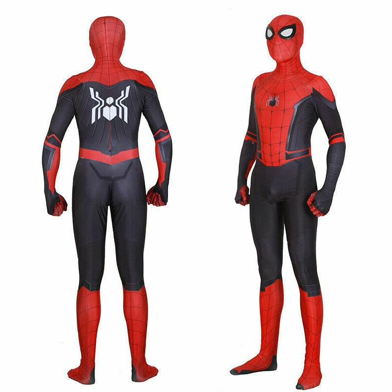 US Spider-Man Far From Home Cosplay Costume Spiderman Zentai
