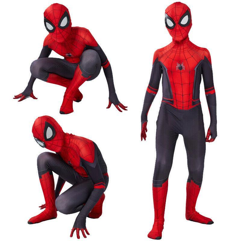 Spider Man Home Jumpsuits Zentai Cosplay Costume Suit Kids