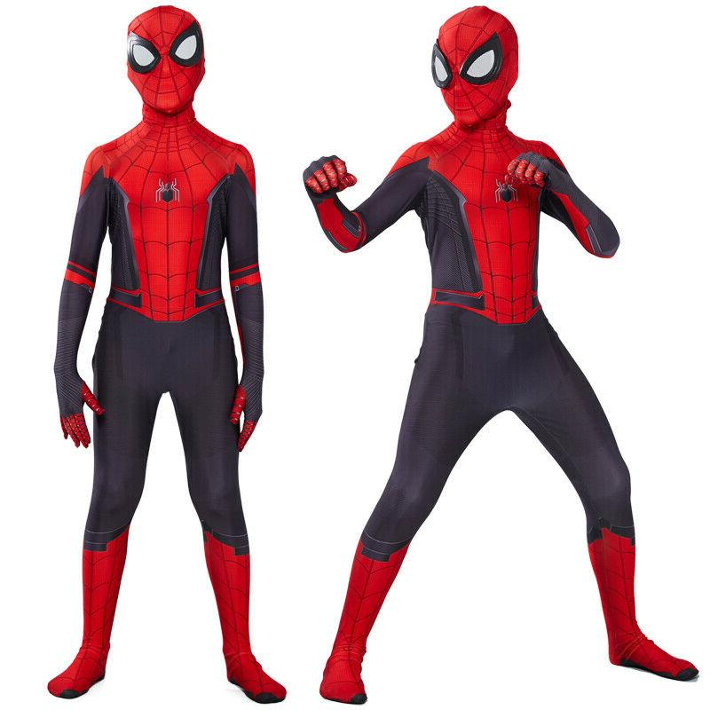 Spider-Man Far From Home Kids Boys Spiderman Zentai Cosplay