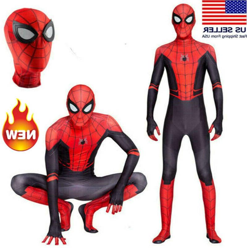 Spider Man Far From Home Jumpsuits Zentai Cosplay Costume Su