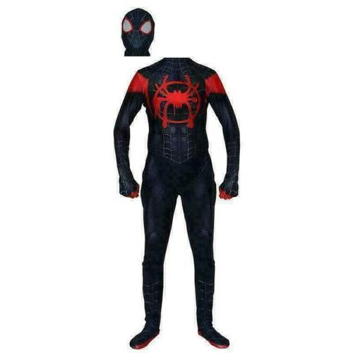 Spider-Man: Into the Morales Costume Cosplay Zentai Suit Spider-Verse