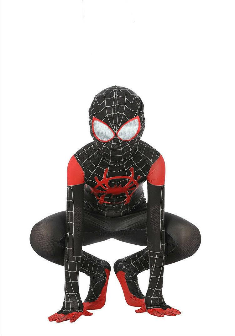 Spider-Man: Into Kids Costume Miles Cosplay Suit