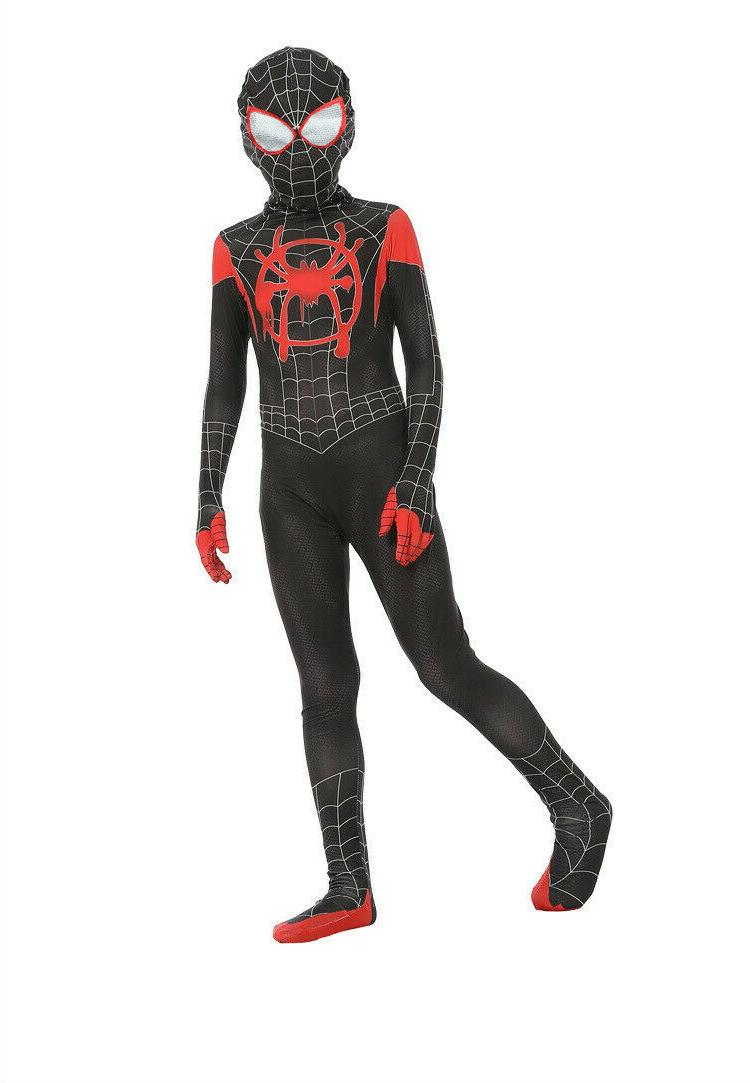Spider-Man: Into Kids Miles Cosplay Zentai Suit