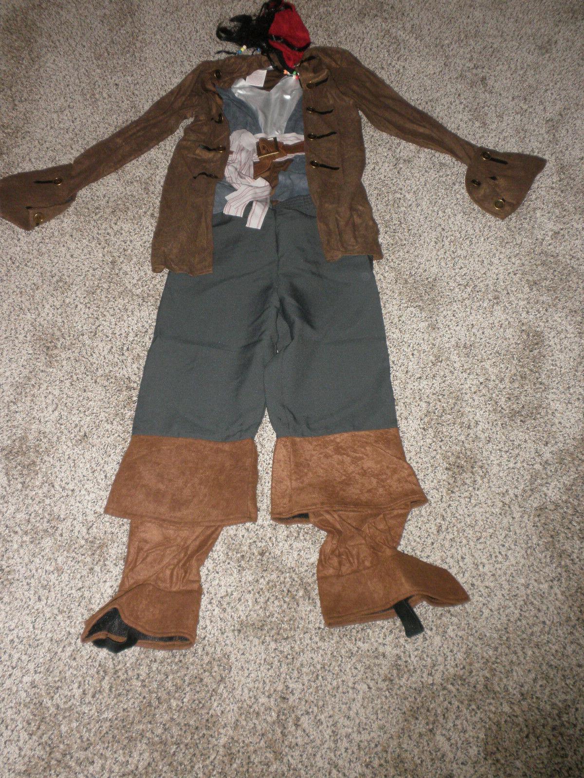 Disney Store Jack Sparrow Pirate Costume childs Medium 7/8