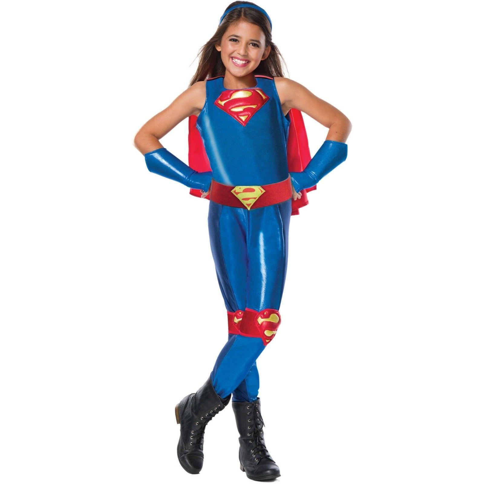 supergirl dc girls child s costume jumpsuit