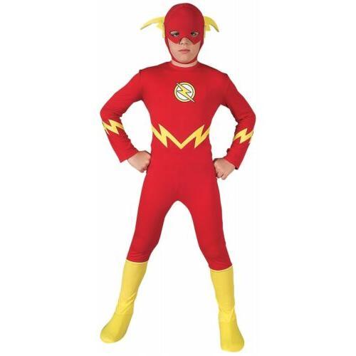 The Flash Costume Kids Superhero Halloween Fancy Dress