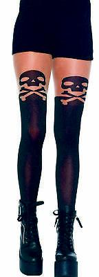 Tights Skull And Crossbone Child Girls Costume Accessories