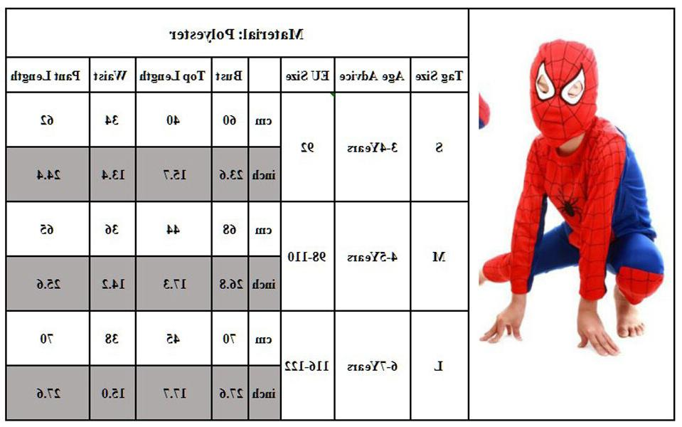 Spiderman Costume Fancy For