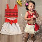 Toddler Girls Kids Baby Moana Costume Top+Skirt Party Fancy