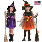 toddler kids baby girls halloween costume witch