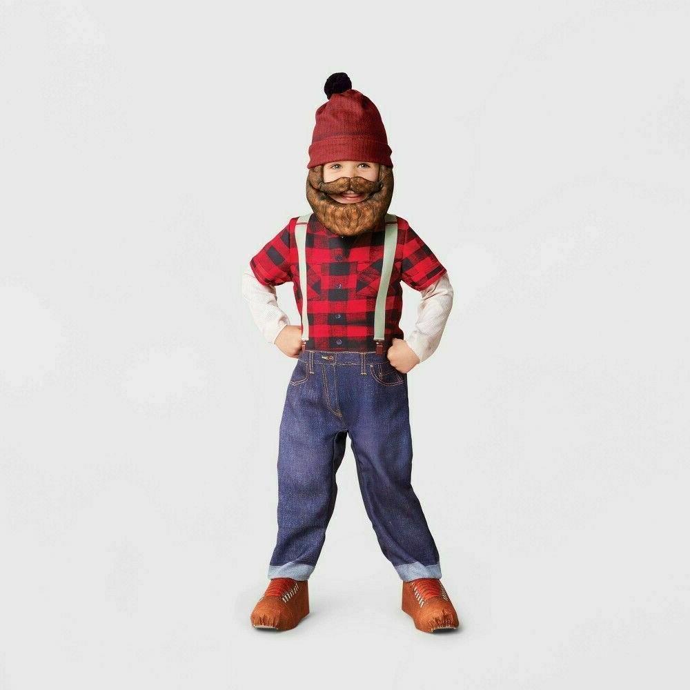 toddler lumberjack jumpsuit halloween costume kids 2t