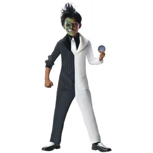 Two Face Costume Kids Batman Villain Halloween Fancy Dress