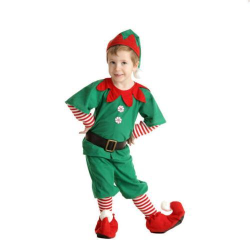 Unisex Children Elf Dress Helper Costumes