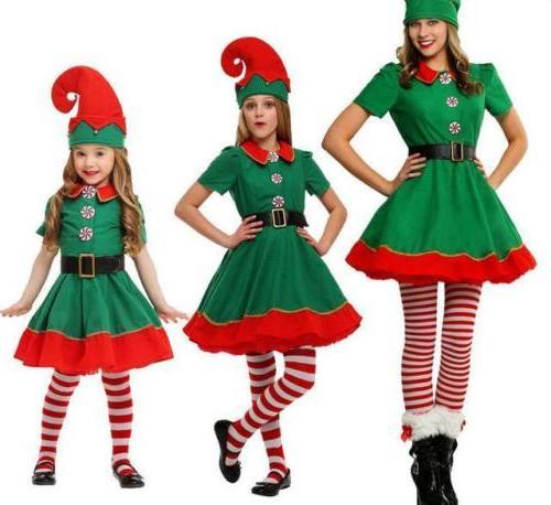 Unisex Elf Santa's Helper Cosplay