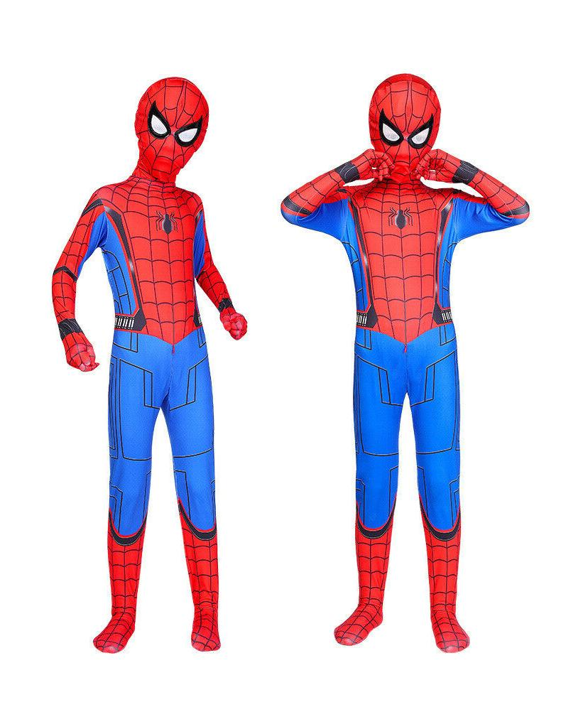 US Spider-Man: Homecoming Cosplay Costume Jumpsuits Unisex K