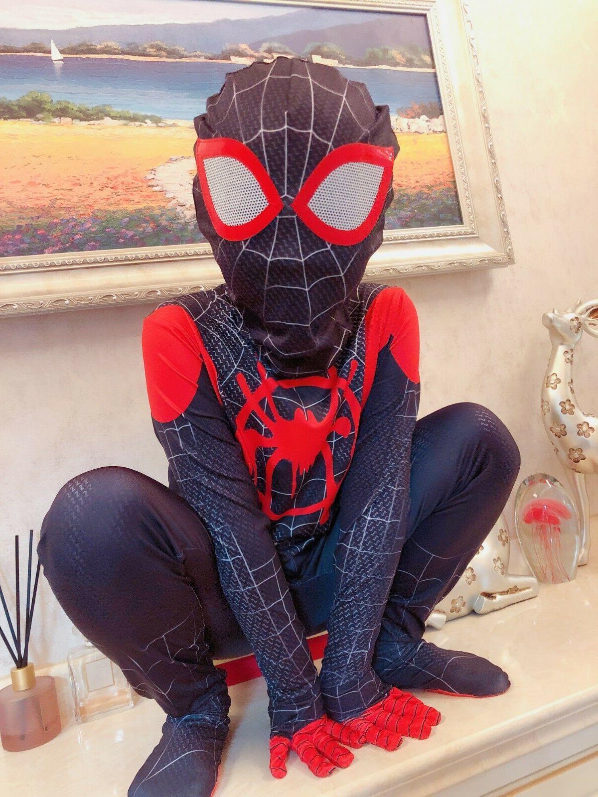 US! Spider-Man: Spider-Verse Miles Cosplay Zentai