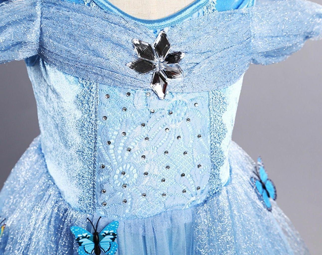 US STOCK Cinderella Disney inspired Dress costume