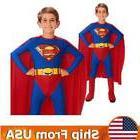 US Superman Superhero Boys Kids Cosplay Halloween Dress Up P