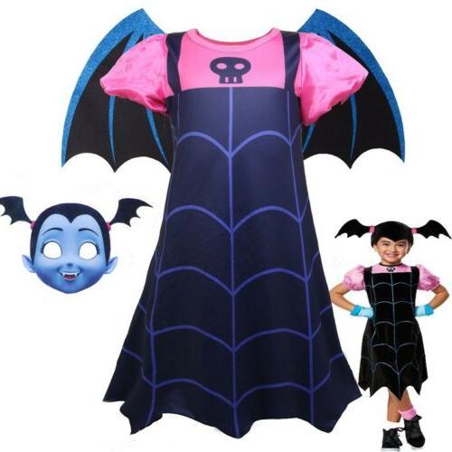 Kids Girls Vampirina Costume New Years Party Cosplay Costume