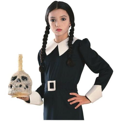 Wednesday Addams Wig Kids Addams Family Halloween Costume